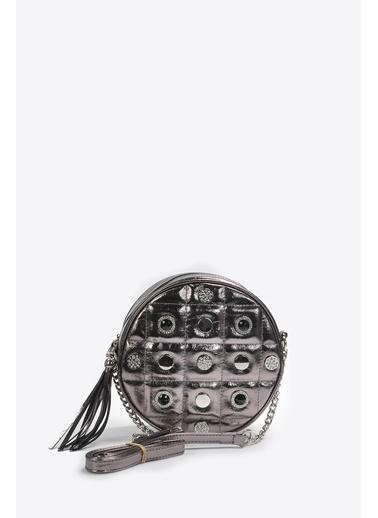 Vizon Ayakkabı Omuz Çantası Gümüş